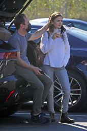 Lily Collins at a Recycling Center in LA 01/13/2021