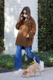 Lily Collins - Morning Stroll in LA 01/13/2021
