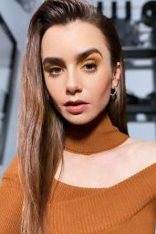 "Lily Collins - Virtual Press Photoshoot for ""Mank"" January 2021"