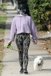 Lucy Hale - Hike With Her Dog in LA 01/03/2021