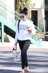 Lucy Hale in Casual Outfit 01/18/2021