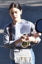 Lucy Hale in Casual Outfit - LA 01/15/2021