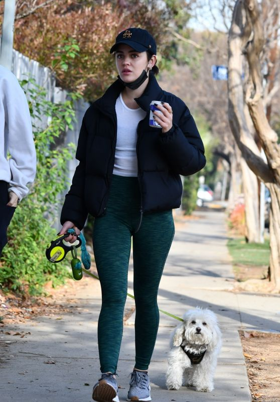 Lucy Hale in Casual Outfit Out in Studio City 01/05/2021