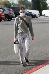 Lucy Hale in Gym Ready Outfit - LA 01/13/2021