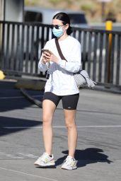 Lucy Hale - Leggy in Biker Short - LA 01/11/2021