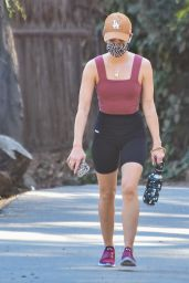 Lucy Hale - Out for a Hike in Studio City 01/14/2021