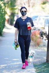 Lucy Hale - Walking Her Dog in Studio City 01/18/2021