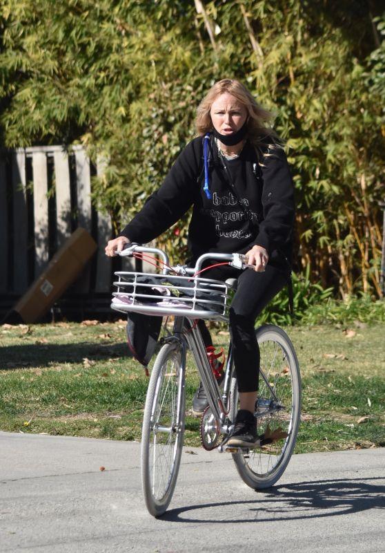 Malin Akerman - Bike Ride in Los Feliz 01/09/2021