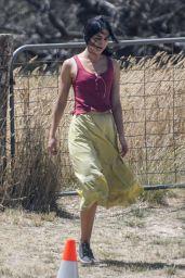 Melissa Barrera on Set in Goulburn 01/17/2021