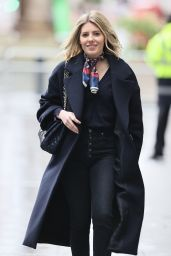 Mollie King in Denim and a Silk Scarf - London 01/16/2021