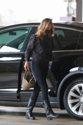 Molly Sims in Tights and Boots - Santa Monica 01/28/2021