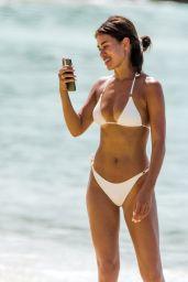Montana Brown in a Wihte Bikini - Barbados 01/20/2021