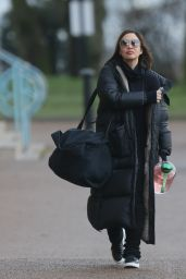 Myleene Klass Winter Street Style - London 01/11/2021