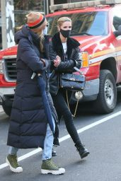 """Nicky Hilton in a """"Playboy"""" Sweater - NYC 01/19/2021"""