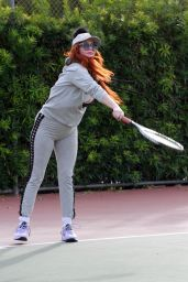 Phoebe Price at the Tennis Court in Los Angeles 01/08/2021