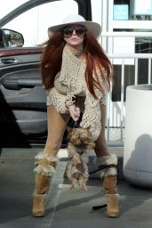 Phoebe Price in a Knit Dress at Petco in LA 01/20/2021