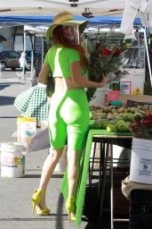 Phoebe Price in a Neon Green Outfit - LA 01/17/2021