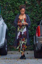 Regina King - Arriving at a Studio in LA 01/17/2021