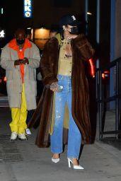 Rihanna Night Out Style - New York City 01/19/2021