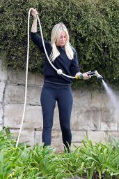 Roxy Jacenko Watering Her Garden - Sydney 01/08/2021