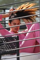 Sara Sampaio on Her Phone in Los Angeles 01/12/2021