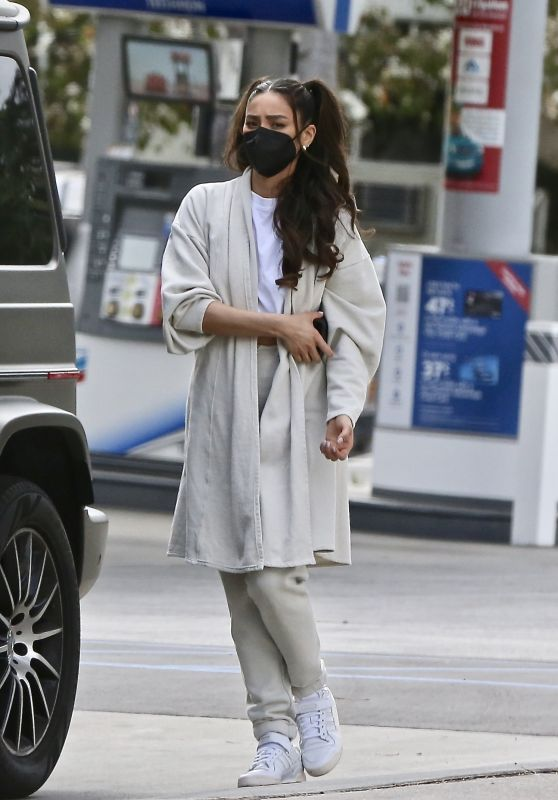 Shay Mitchell at a Gas Station in Los Feliz 01/28/2021