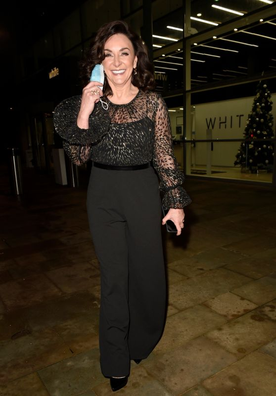 Shirley Ballas - Leaving Media City in Manchester 12/31/2020