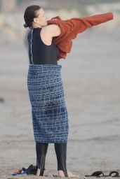 Sigourney Weaver on the Beach in Los Angeles 01/13/2021
