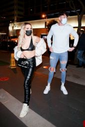 Tana Mongeau Night Out Style - BOA Steakhouse in West Hollywood 01/29/2021