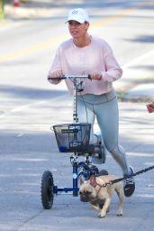 Teddi Mellencamp Riding a Mobility Scooter - LA 01/10/2021