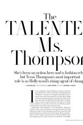 Tessa Thompson - Town and Country Magazine February 2021 Issue