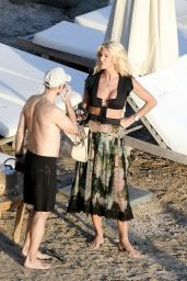 Victoria Silvstedt at the Beach in St.Barths 01/04/2021