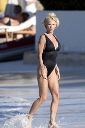 Victoria Silvstedt in a Swimsuit - St Barths 01/05/2021