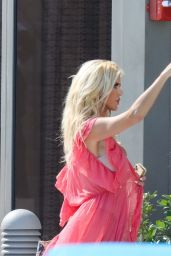 Victoria Silvstedt - Photoshoot on Her Hotel Balcony in Miami 01/26/2021