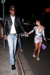 Aimee Aguilar and Wiz Khalifa at the Nice Guy in West Hollywood 02/19/2021