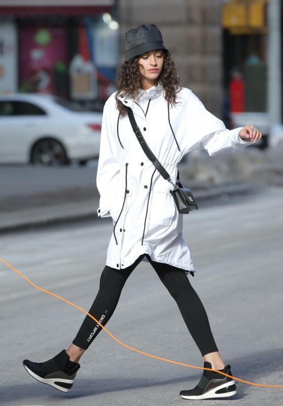 Alanna Arrington - Photoshoot for DKNY in New York 02/10/2021