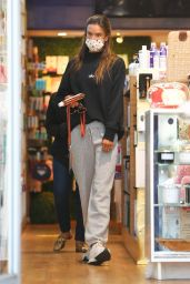 Alessandra Ambrosio - Shopping at Brentwood Beauty Center and Bristol Farms 02/22/2021