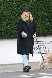 Alice Eve - Takes Her Dog Out in London 02/25/2021