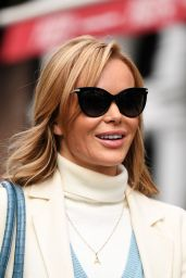 Amanda Holden - Arriving at Global Radio Studios in London 02/02/2021