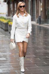 Amanda Holden in a White Mini Skirt - London 02/25/2021