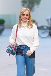Amanda Holden in Cute Street Outfit - London 02/25/2021