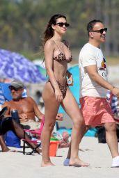 Amelia Hamlin in an Animal Print Bikini in Miami 02/13/2021