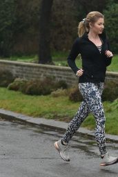 Amy Hart - Out For Her Morning Run in Worthing 02/09/2021