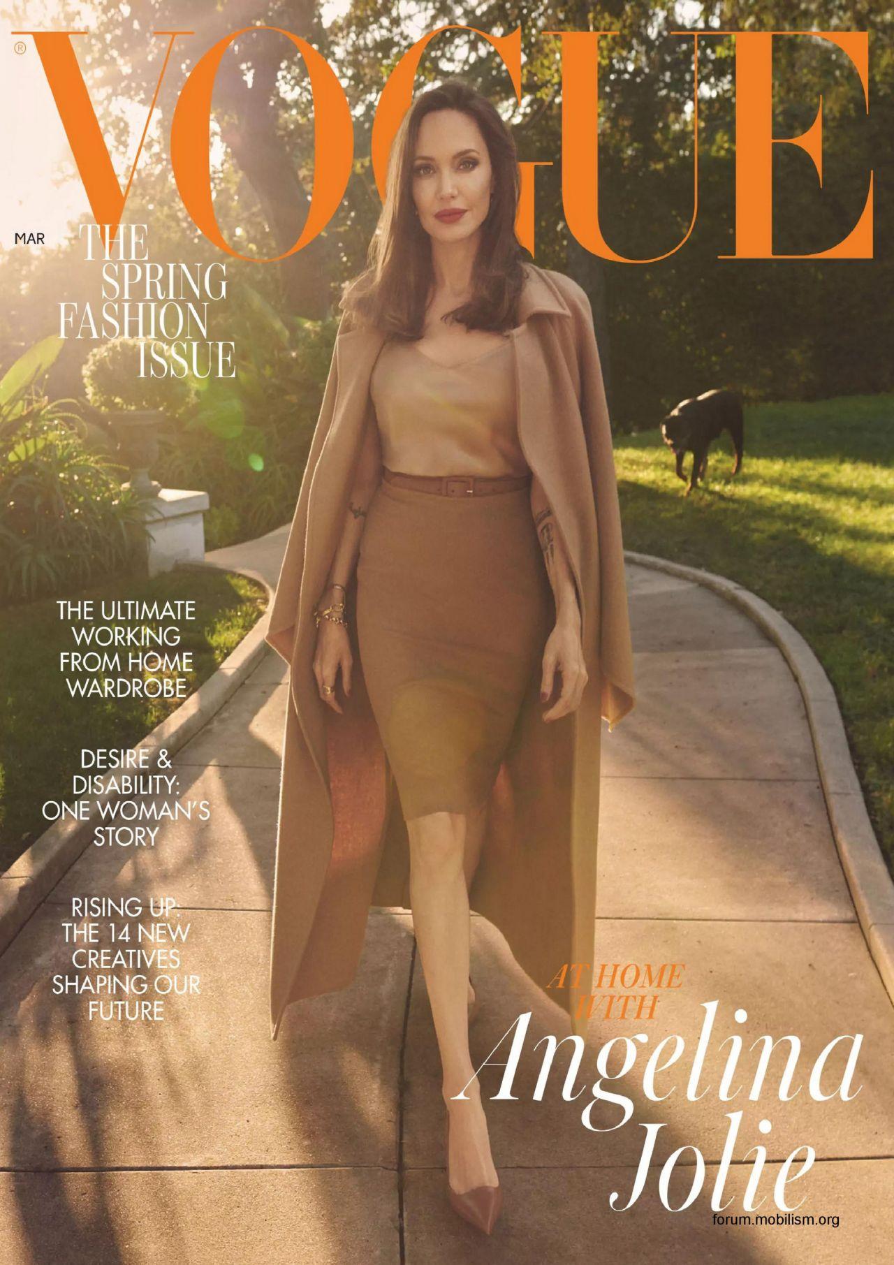 Angelina Jolie - Vogue UK March 2021 Issue • CelebMafia