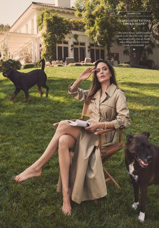 Angelina Jolie - Vogue UK March 2021 Issue