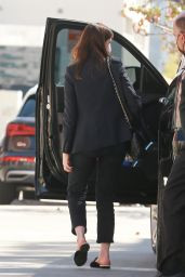 Anne Hathaway in All Black - Los Angeles 02/24/2021