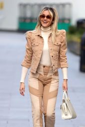 Ashley Roberts in a Plaid Mini Skirt and Knitted Vest - London 02/24/2021