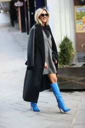 Ashley Roberts in an Outfit by Nasty Gal and Boots by Ego 02/12/2021