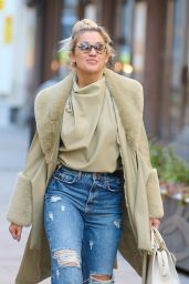 Ashley Roberts - Leaving the Heart Radio Studios in London 02/10/2021