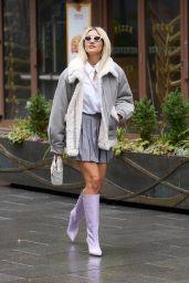 Ashley Roberts - Leaving the Heart Radio Studios in London 02/15/2021